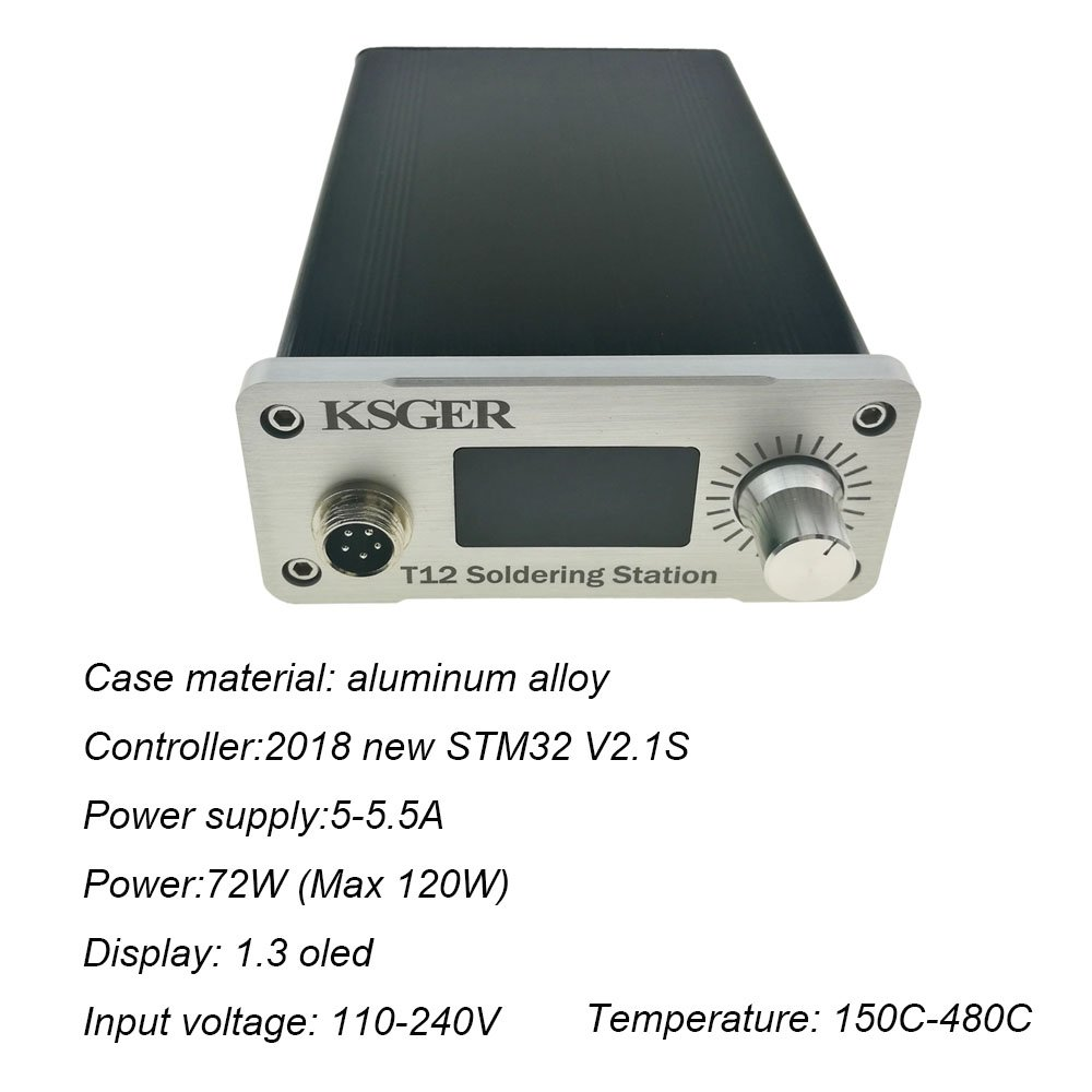KSGER OLED Soldering Station FX9501 Handle T12 Electric Iron Tools STM32  V2 1S DIY Soldering Iron Kits Temperature Controller Holder Welding T12 K