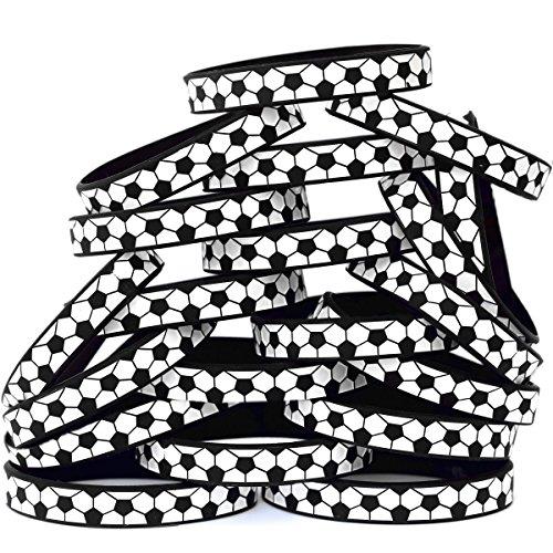 SayitBands 20 Soccer Silicone Wristband Sports Bracelets