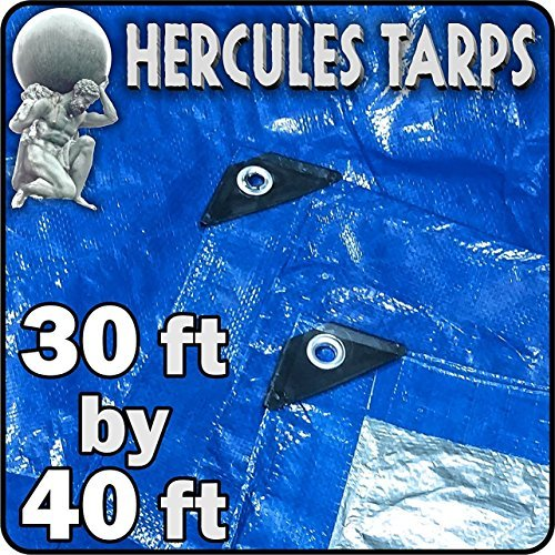 EasyGO Tarp2-30x40 Hercules Shelter Cover Waterproof Tarpaulin Plastic Tarp Protection Sheet for Contractors, Campers, Painters, Farmers, Boats, Motorcycles, Hay Bales-30