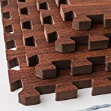 "Meikotu EVA Print foam puzzle mat /Waterproof Interlocking Exercise Tiles 12 ""X 12"" 3/8 ""Thick (Dark wood) Review"