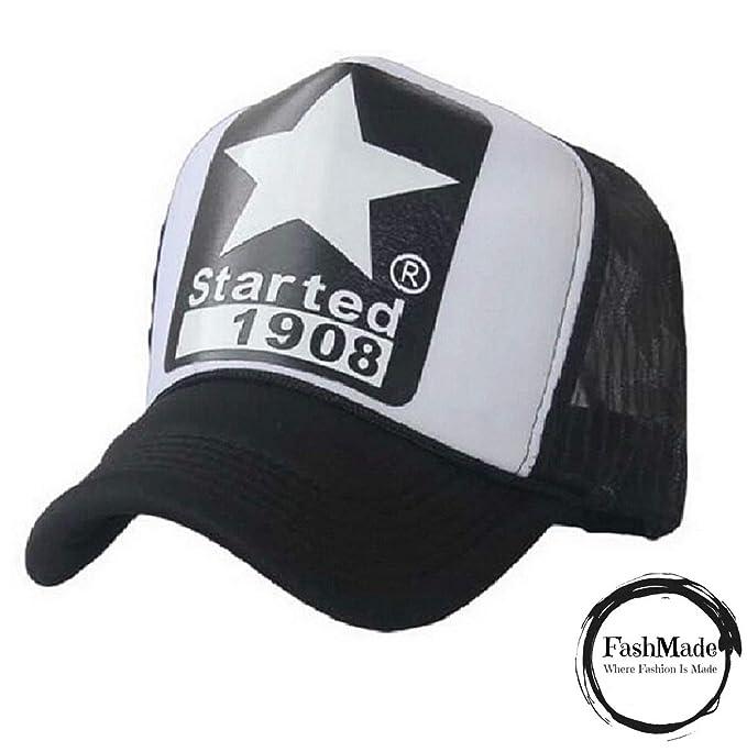 da895f4d434 FashMade 1908 Star Printed Halfnet Cap for Men Boys   Women Girls Black   Amazon.in  Clothing   Accessories