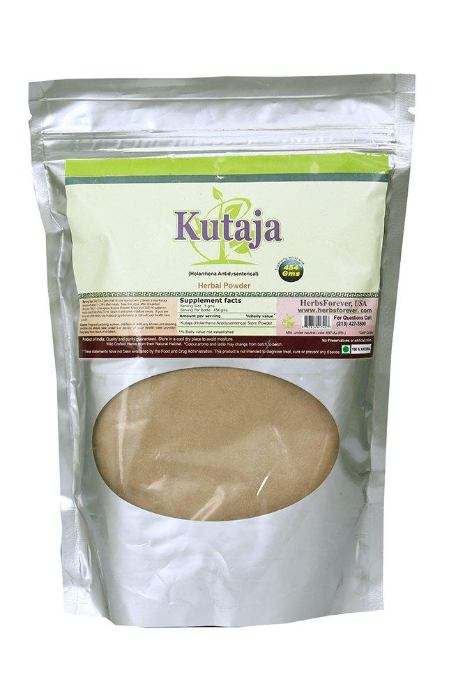 Kutaja Powder (Bark) (Holarrhena Antidysenterica) (Ayurvedic Digestion Care Formulation) (Ayurvedic Herbs from Natural Habitat)16 Oz, 454 GMS 2X (Optimum Potency)