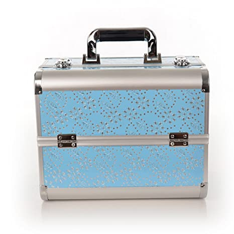 tobaling maletín con maletín de maquillaje cajas de maquillaje (aluminio – caja para almacenaje cosméticos