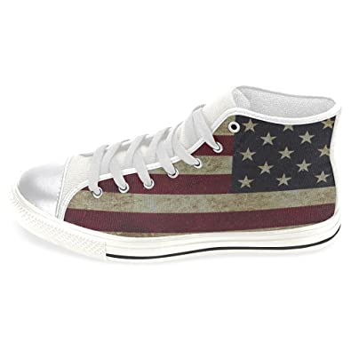 InterestPrint Womens High Top Classic Casual Canvas Fashion Shoes Trainers Lace Up Sneakers  A0KW0CTZM