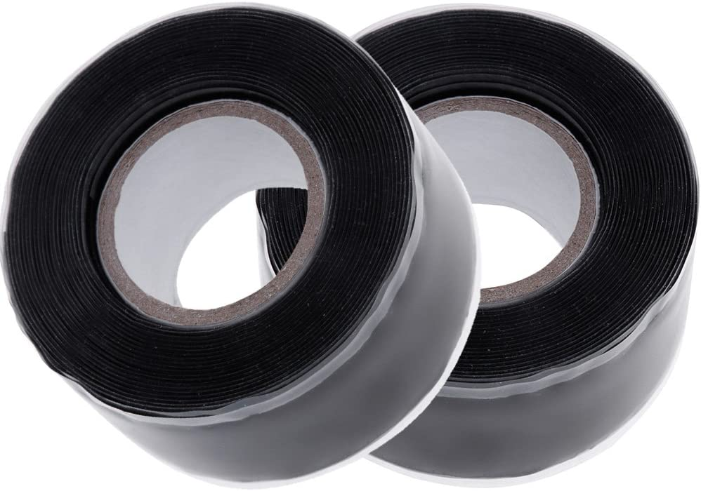 Anpro 2 Rolls Silicone Waterproof Repair Tape / Sealing Tape, 25mmX3m Pipe Sealing Repair Tape for Leaky Hose / Pipe