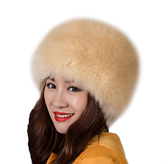 Tortor 1Bacha Women s Russian cossack Style Faux Fur Warm Winter Hat Apricot 869ee5012d9b