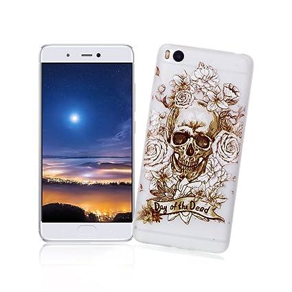 XiaoXiMi Carcasa XiaoMi Mi 5S Funda Luminosa de Silicona Caucho Gel para XiaoMi Mi 5S Soft TPU Silicone Case Cover Carcasa Protectora Funda Blanda ...
