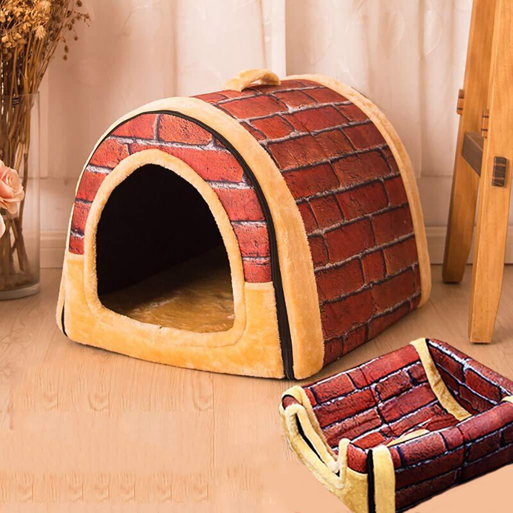 ペットハウスケンネル中型および大型犬折りたたみ式洗濯可能な犬舎ペットルームペットマットペットベッドペット用品ユニバーサル年中 (色 : E, サイズ さいず : 67*56*52) B07L5FGQV9 F f 55*46*44 55*46*44|F f