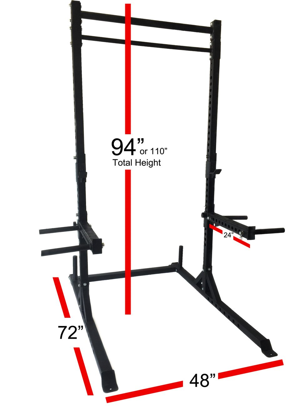 Rep Squat Rack with Pull Up Bar - 1,000 lb Capacity