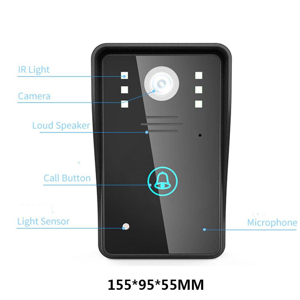 HD 720P Wireless WIFI Video-Türsprechanlage Türklingel Intercom System  Nachtsicht Wasserdichte Unterstützung Smartphone P2P Fernzugriff:  Amazon.de: Baumarkt