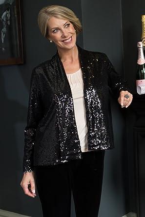 996142eb3c432 Image Unavailable. Image not available for. Colour  Lavitta - Women s - Black  Sequin Jacket - 12-24 - Plus Size