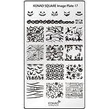 Original KONAD Square 17 Stamping Schablone - SQUARE No. 17 Image Stamping Plate