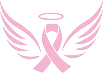 Angel Wings Breast Cancer Awareness Decal Cars Laptops Walls