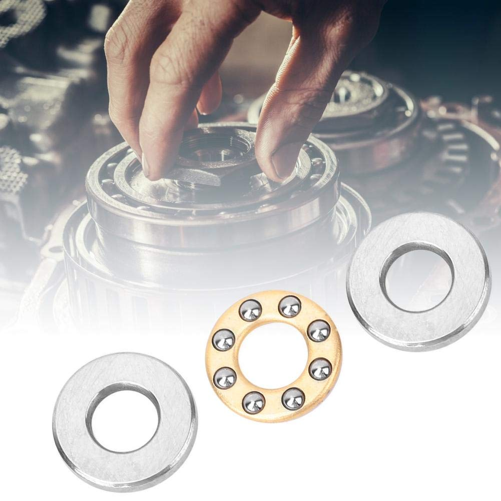10pcs Miniature Thrust Ball Bearing High Precision Single Direction Flat Steel Bearings Set for Industrial Production F2.5-6M 2.563mm