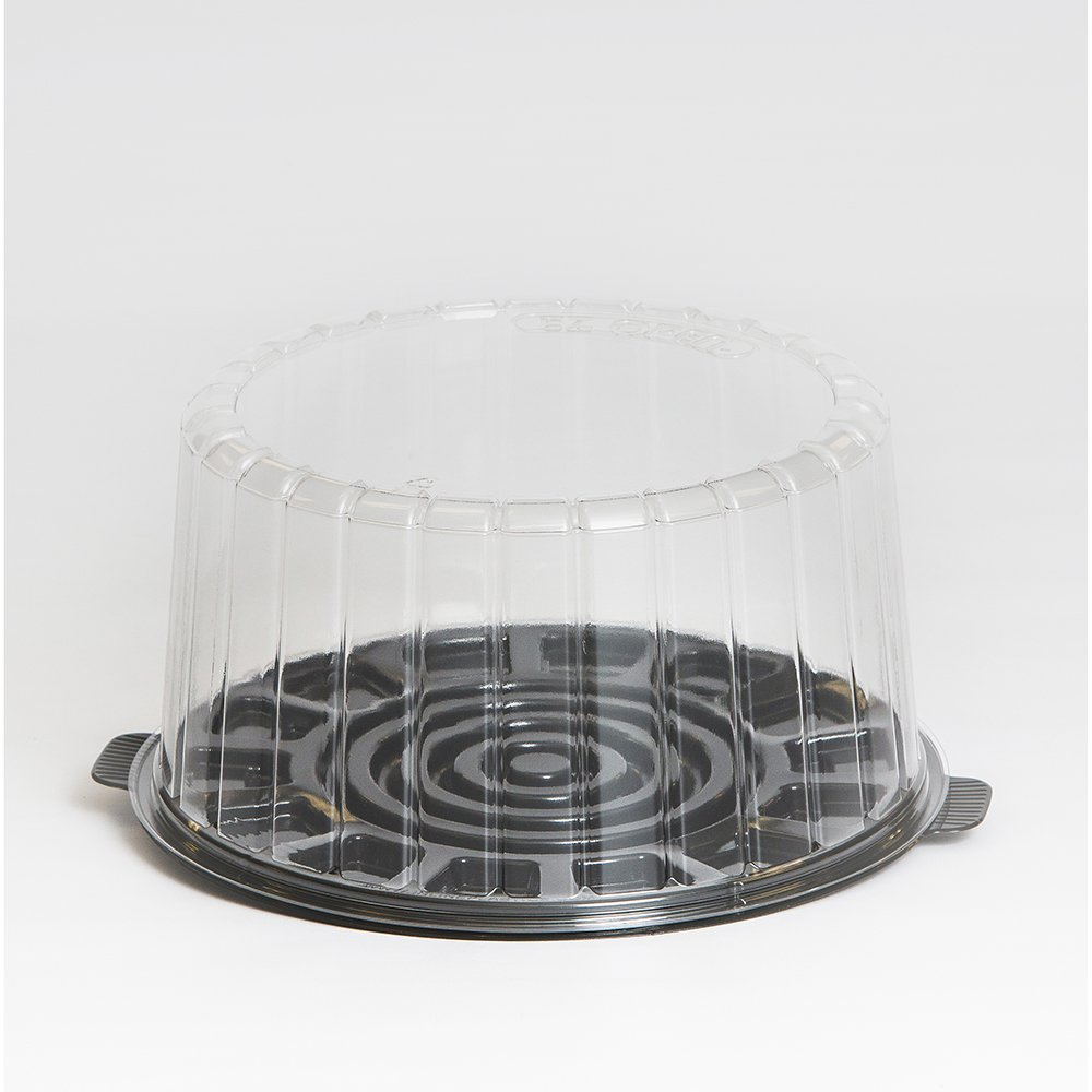Inline Plastics EZ Open Clear, Double Layer 9 Inch Cake Container with Dome Lid | 50/Case Inline Plastics Corporation