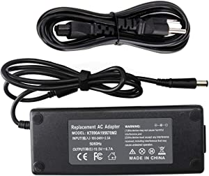 130W 19.5V 6.7A AC Adapter Charger Compatible with Dell Inspiron 15 7559 N5110 N7110 Dell Precision M20 M60 M70 M90 M2400 Vostro 500 1000 XPS M1210 M1330 Studio 1535 1536 PA-4E Power Supply Cord