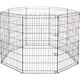 AmazonBasics Foldable Metal Pet Dog Exercise Fence Pen - 60 x 60 x 42 Inches