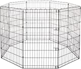 AmazonBasics Foldable Metal Pet Exercise and Playpen, 42""