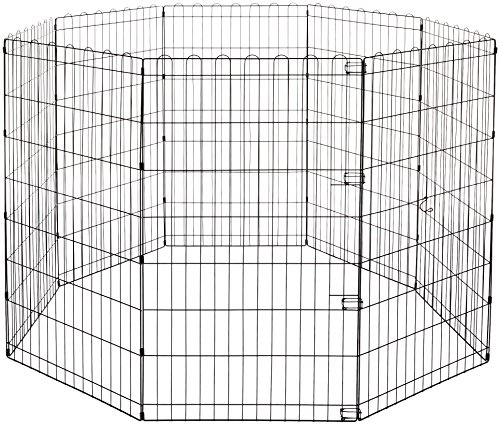 AmazonBasics Foldable Metal Pet Exercise and Playpen, 42