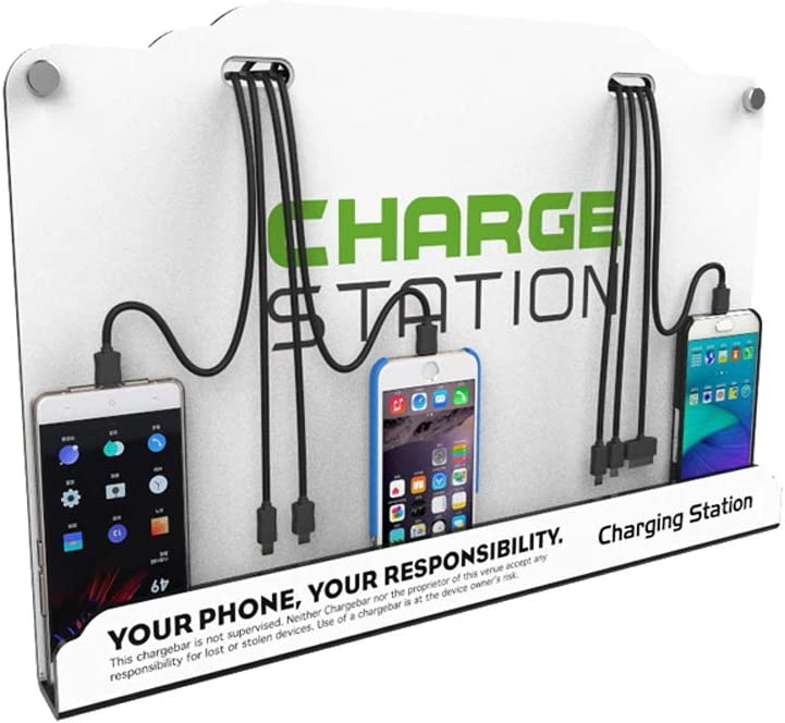 Vipatey Wall Mounted Cell Phone Charging Station High Speed Cables With 8 Ports Applicable Airport Hospitals Banks Hotel Shopping Malls And Public Places Electronics