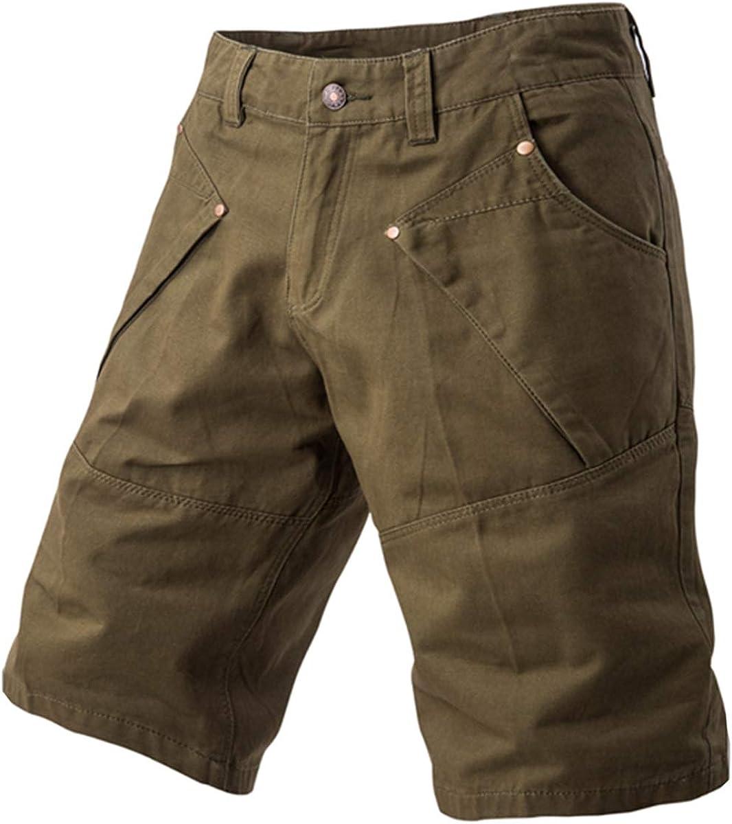 Wopop Mens Summer Outdoors Multi-Pocket Bermuda Ripstop Cargo Shorts