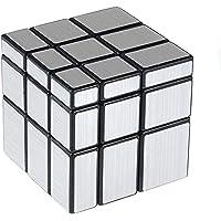 Cooja Cubo Mirror Cubo Espejo, Magic Cube 3x3 Cubo Especial Silver Mirror, Pegatinas Cube Cubo de Velocidad