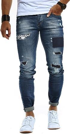 LEIF NELSON Herren Jeans Hose Jeanshose Stretch Blau Freizeithose Denim Slim  Fit LN9940  Amazon.de  Bekleidung 2dff59ed19