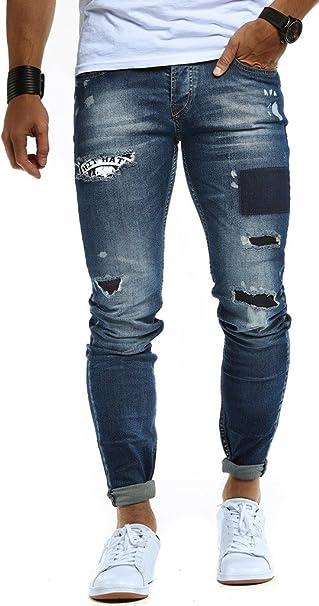 Details zu Reslad Jeans Hosen Herren Slim Fit Jeanshose Männer Hose Stretch Basic Denim