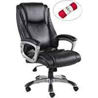 HollyHOME High Back PU Leather Office Executive Chair with Thick-Padded Seat