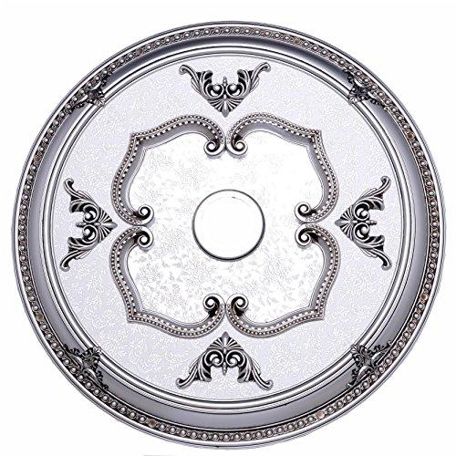 Pewter Ceiling Medallion (Elegant Lighting MD108D32PW Medallion, Pewter, 32