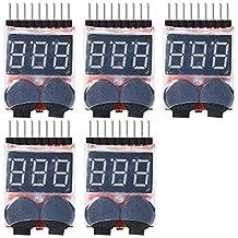 XCSOURCE 5X 1-8S LED Li-ion Lipo Indicator Checker Tester Low Voltage Buzzer Alarm TE188