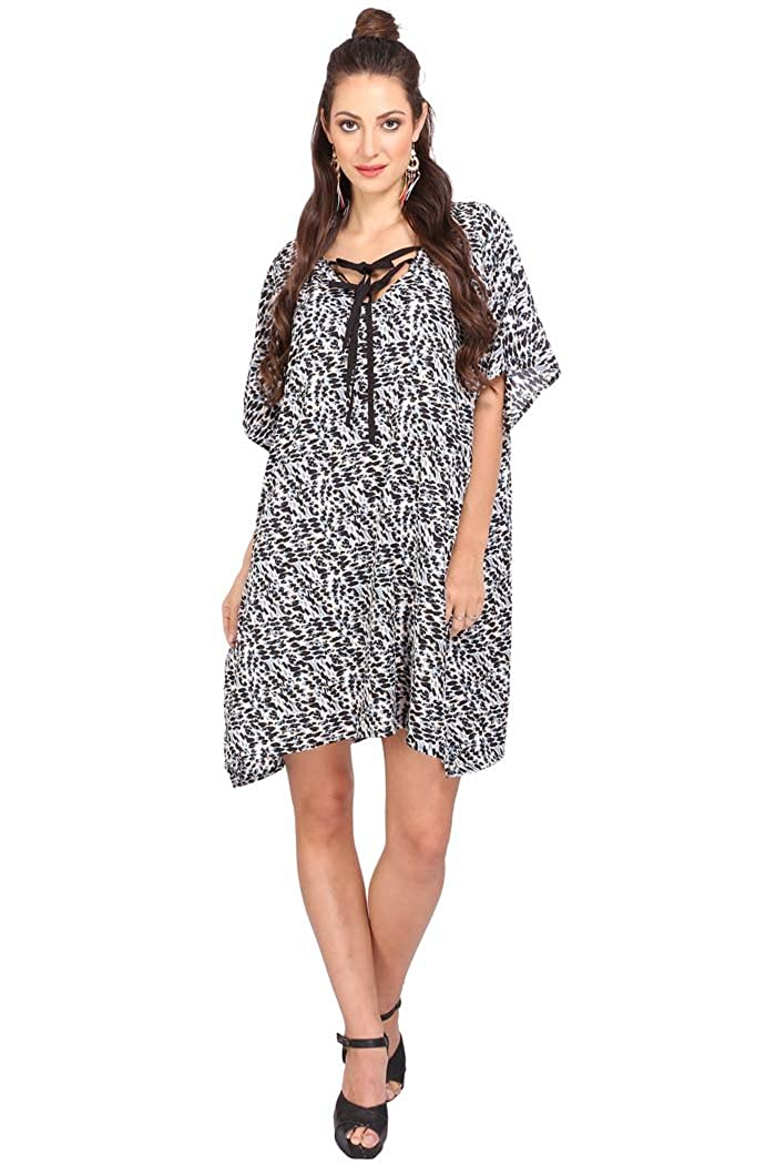 5f71ca2965fa Miss Lavish Women s Kaftan Tunic Kimono Dress Summer Evening Plus ...
