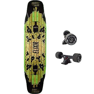 Moonshine-Mfg Elixir 2020 Complete Skateboard -9.5x40.5 Bk/Green : Sports & Outdoors