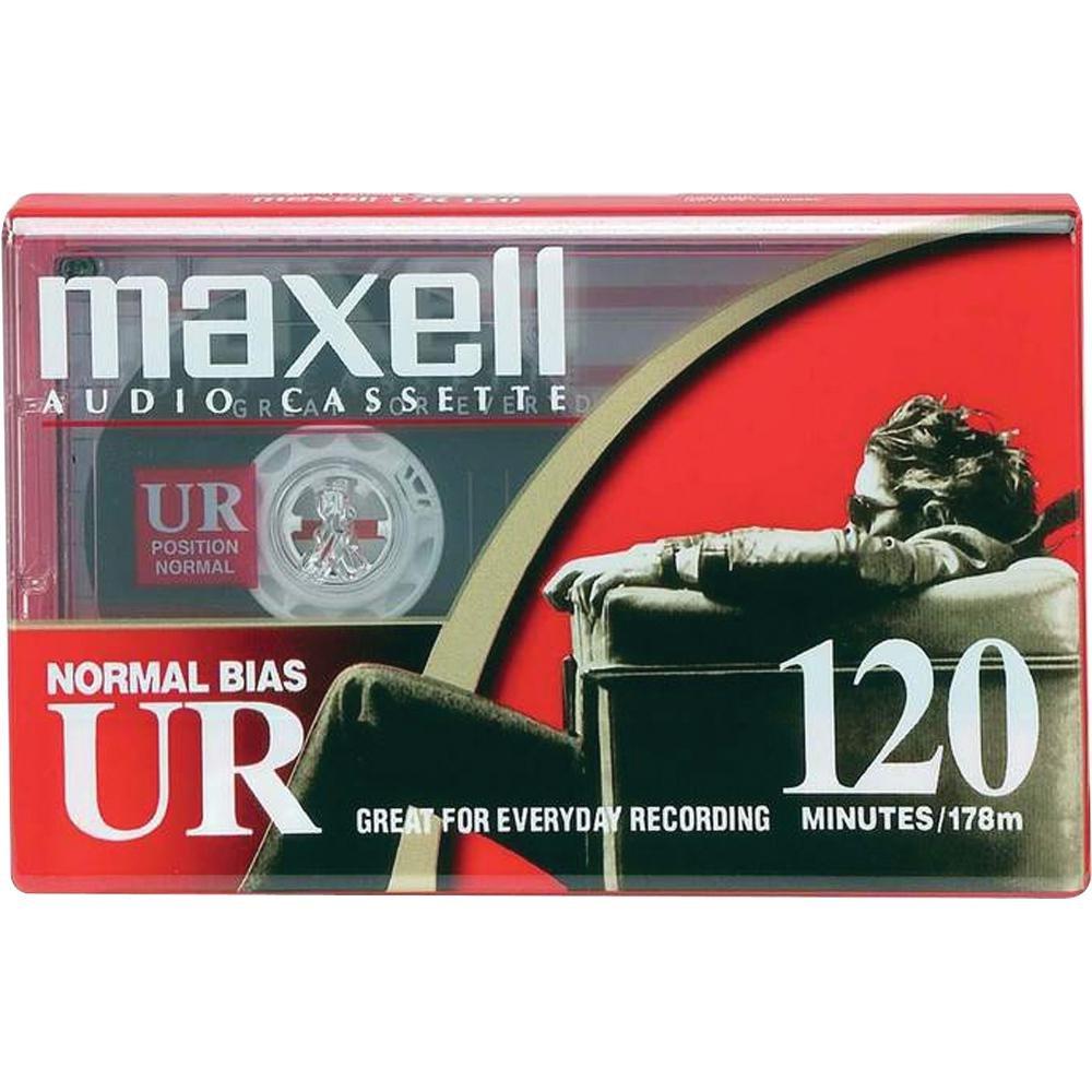 MAXELL UR120 Blank Audio Cassette Tape (2 pack) 108022-FLATPACK
