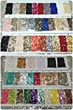 NUEVO. ACG lentejuelas tela 86tarjeta de muestras de colores para gamuza/Decoración/Mantel