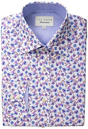 Ted Baker Men's Wroxall Dress Shirt, Pink, 16/Regular
