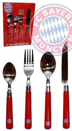 FC Bayern Múnich - Cubertería de 16 piezas en caja de regalo [Misc.]: Amazon.es: Deportes y aire libre
