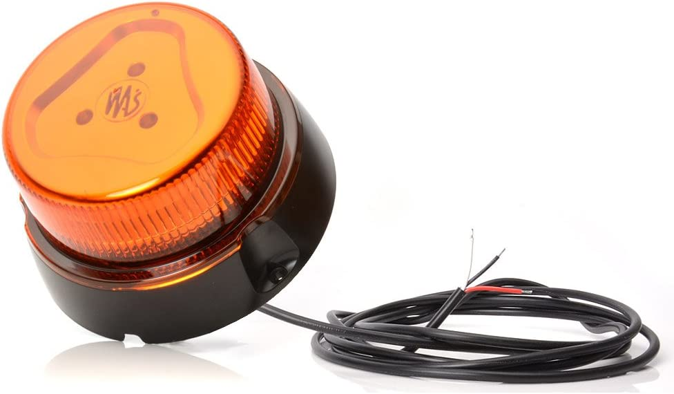 2 Jahre Garantie LED-MARTIN R65 Rundumkennleuchte flach extrem hell 3 Punkt gelb