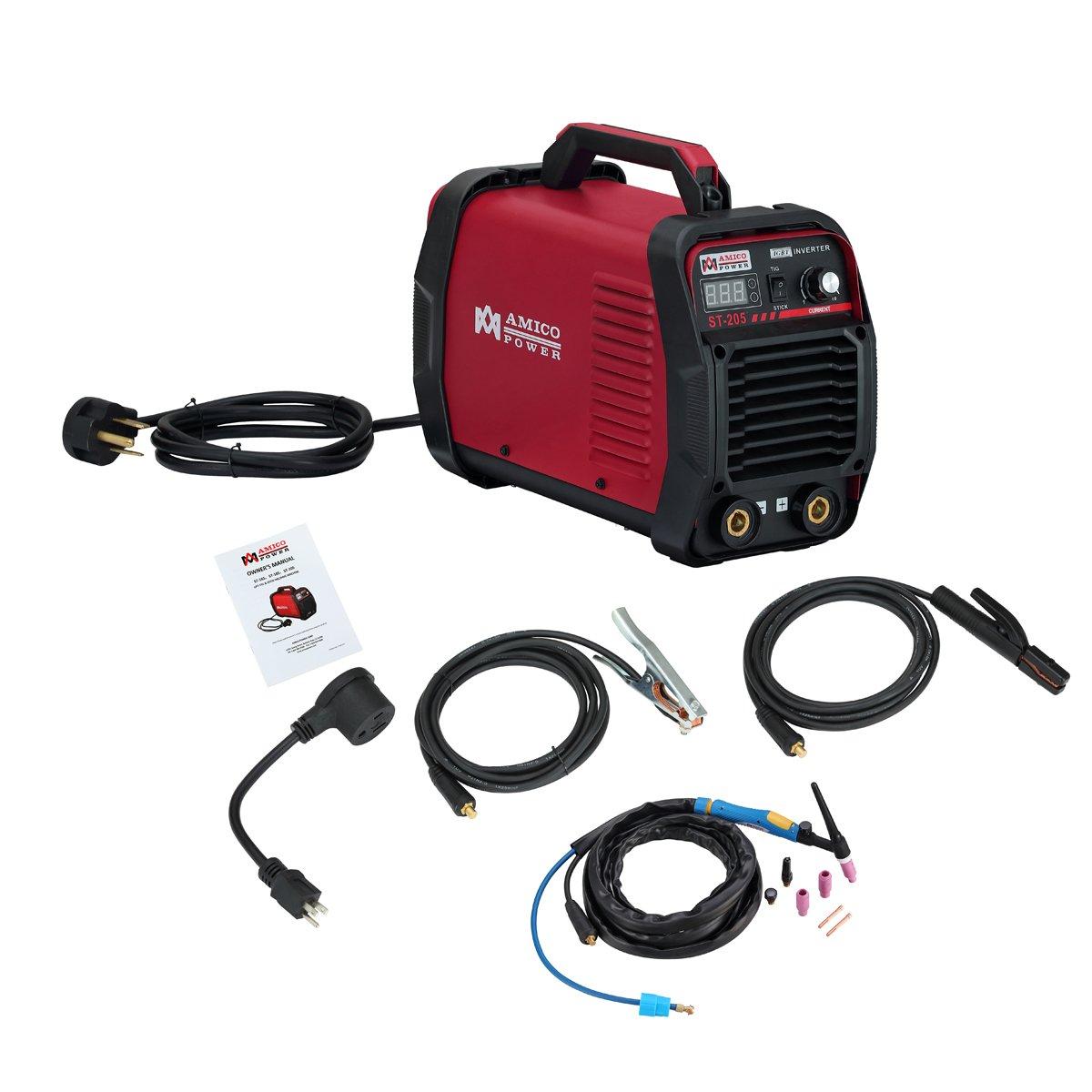 Amico ST-205 Amp Lift-TIG Torch/Stick/Arc Welder 115 & 230V Dual Voltage Welding Machine