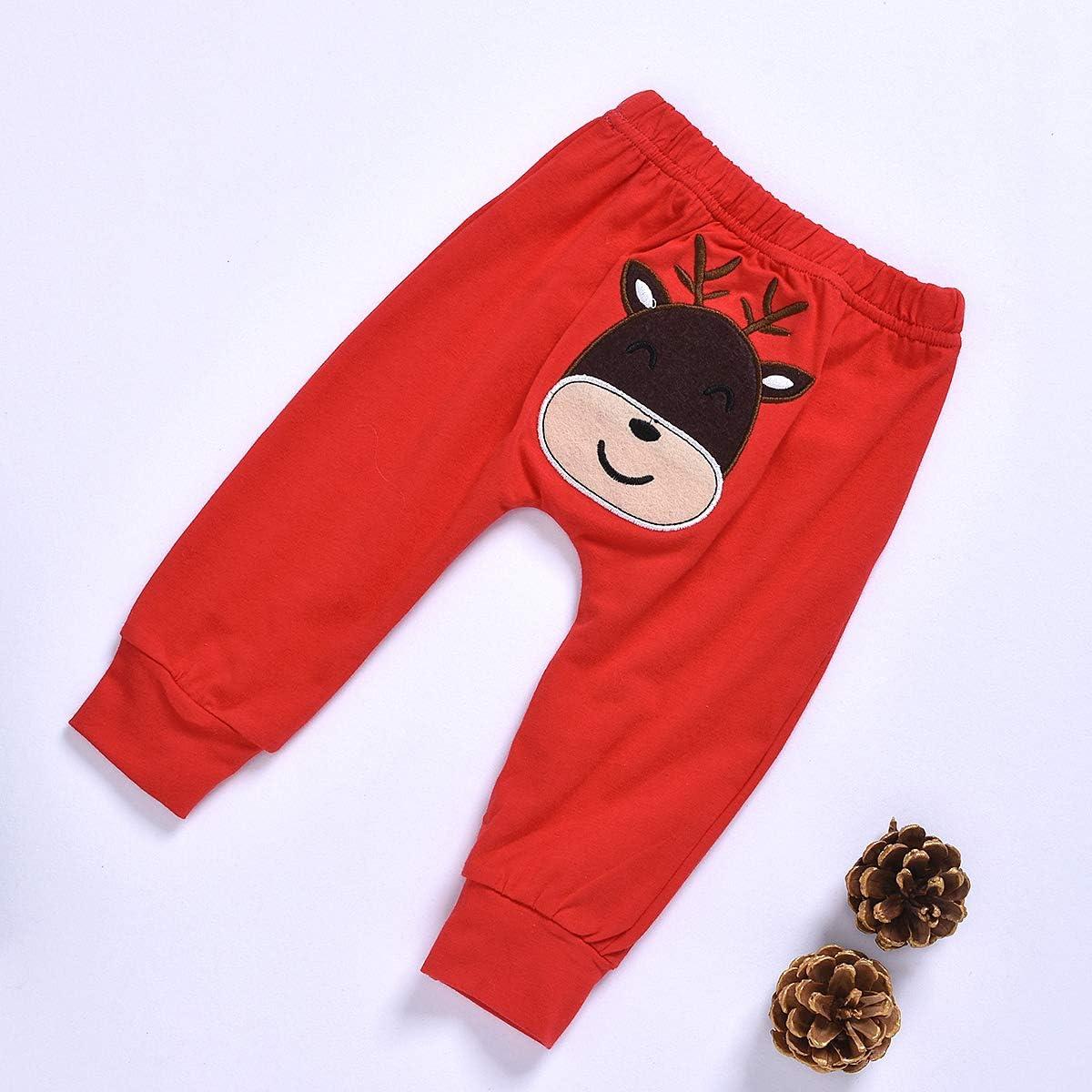 Tabpole Baby Boys Girls My First Christmas 3 piezas Mono con pantalones y gorro dise/ño de rayas