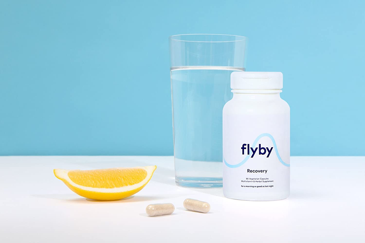 Flyby Hangover Cure & Prevention Pills (30 Capsules) - Dihydromyricetin (DHM), Chlorophyll, Prickly Pear, N-Acetyl-Cysteine, Milk Thistle for Morning After Alcohol Recovery & Aid - Certified Organic