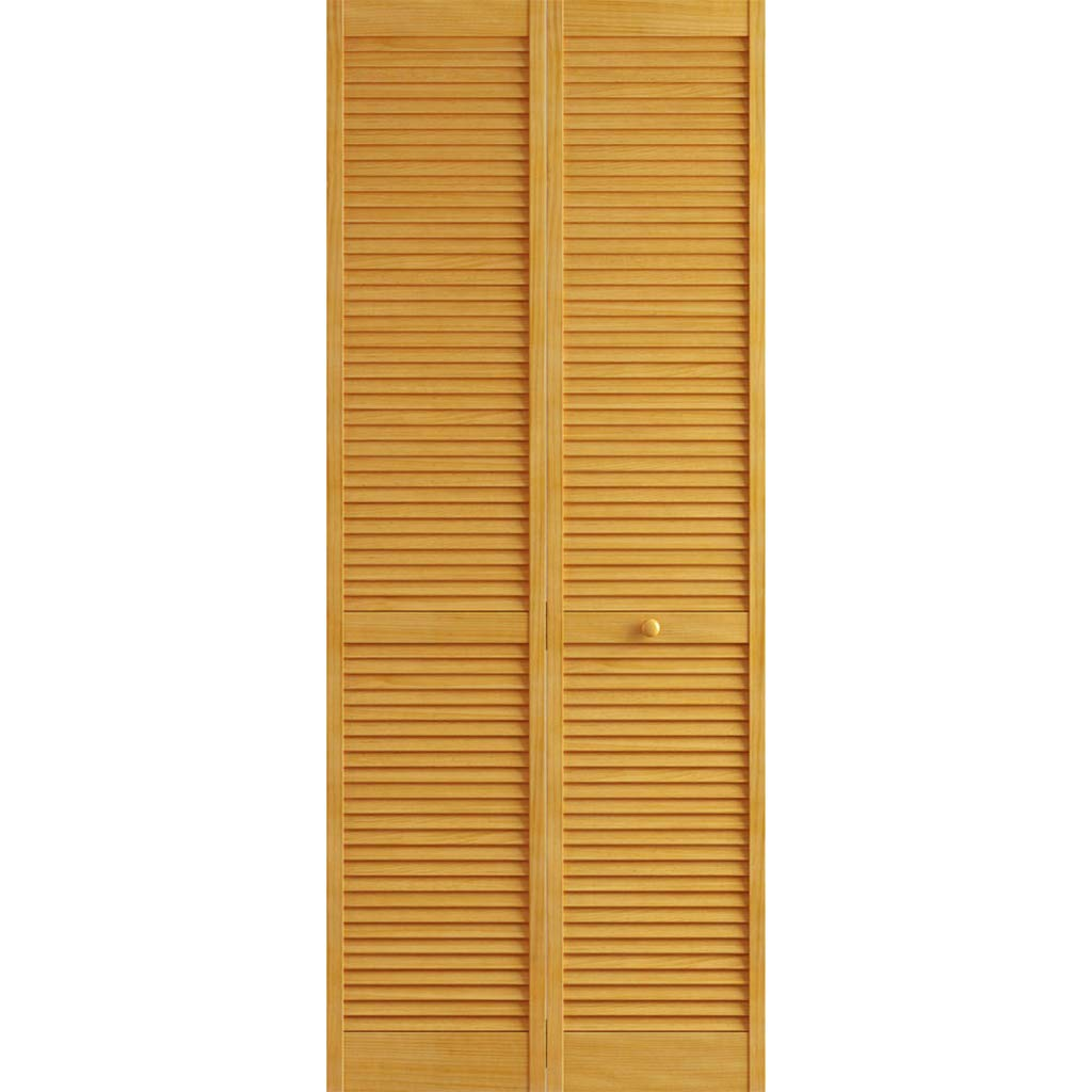 Kimberly Bay Traditional Louver Louver Golden Oak Solid Core Wood Bi-fold Door (80x24) by Kimberly Bay TM