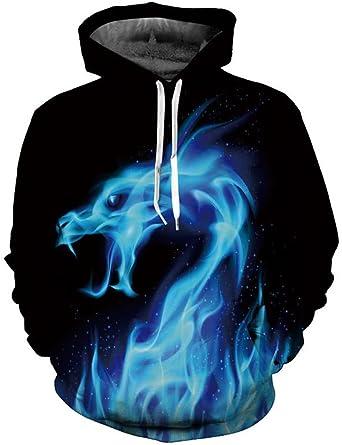 Doxi 3D Printed Flame Fashion Harajuku Clothes Hoodies Sweatshirts Casual Pullover