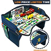 Smart Travel Tray – Ideal as Kids Travel Tray – Toddler Travel Tray & Baby Stroller Tray – Travel Activity Tray & Play tray – Baby Snack Tray & Car Seat Tray