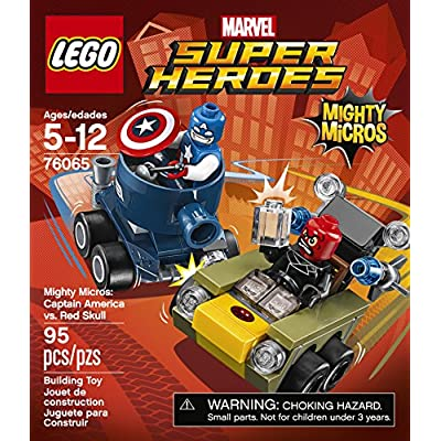 LEGO Marvel Super Heroes Mighty Micros: Captain America vs Red Skull (76065): Toys & Games