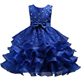 Gurcyter Girls Special Occasion Dresses Kids Ruffles Lace Party Wedding Dress
