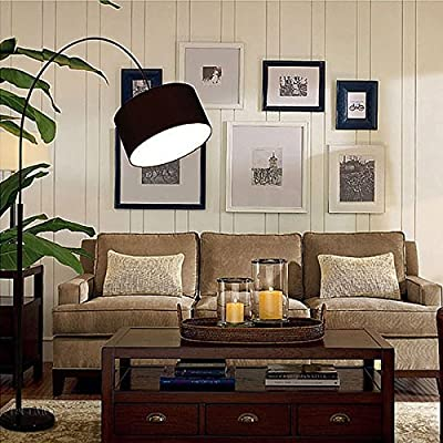 Energy-saving LED Floor Lamp, Natural Marble Base, Creative Floor Standing Lamp, Nature White Lighting For Reading, Writing And Studying ( Color : Black )
