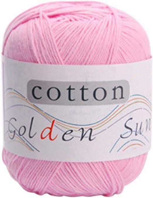 Hilo de algodón para tejer a mano de 14 colores, lana de punto de ...
