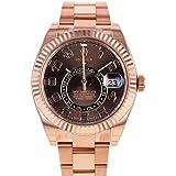 Rolex Sky Dweller Chocolate Dial Rose Gold Men's Watch 326935