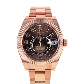 Rolex Sky Dweller Chocolat Cadran Or Rose Montre Homme 326935 ...